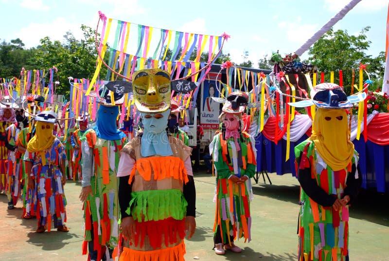 Phi Kon Nam Cultural em Chiang Khan imagem de stock