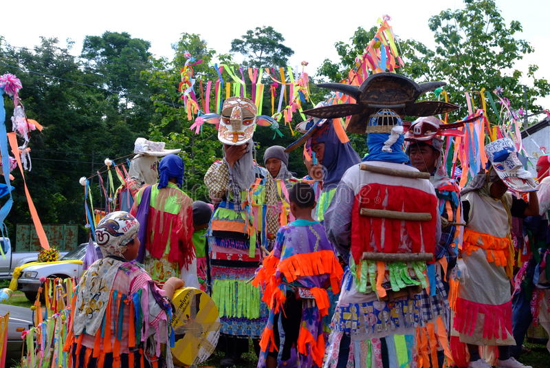 Phi Kon Nam Cultural em Chiang Khan fotos de stock