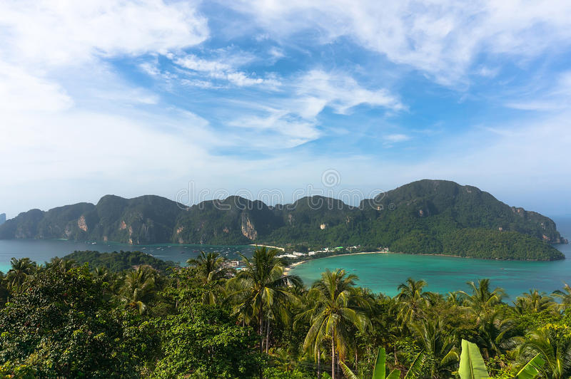 Phi-Phi ö, Krabi landskap, Thailand royaltyfri foto