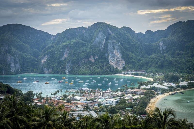 Phi-Phi ö, Krabi landskap, Thailand arkivbilder