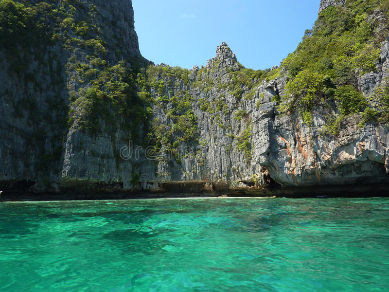 Download Phi Phi clifs stock image. Image of tropical, water, green - 14862415