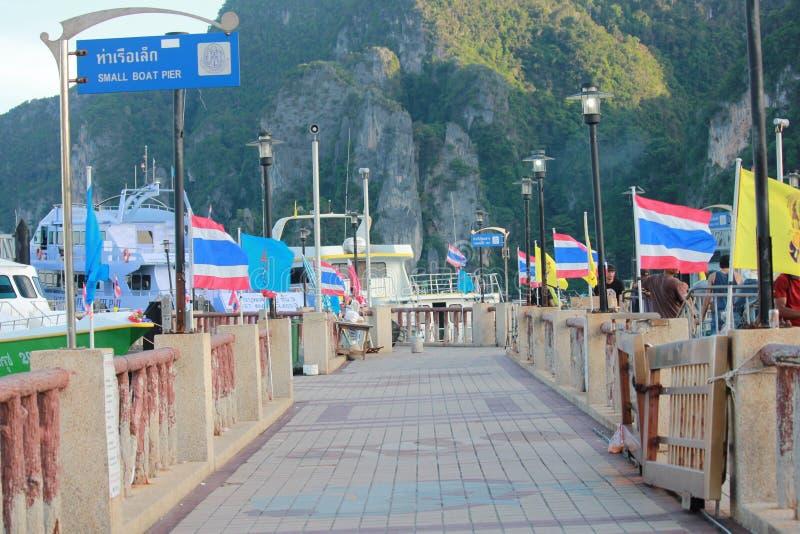 Phi-phi port royaltyfri fotografi