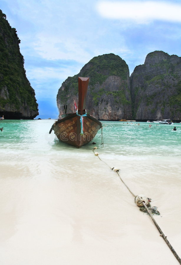 Phi-Phi tropicale della spiaggia immagine stock libera da diritti