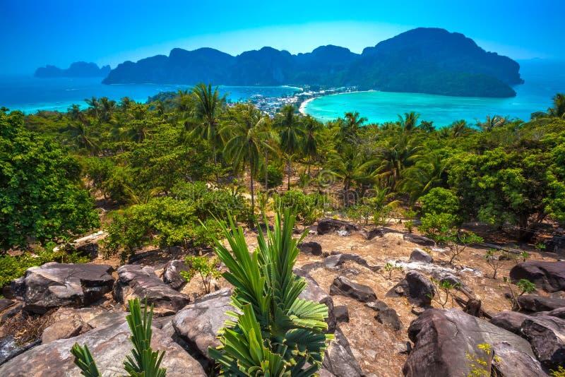 Phi Phi Viewpoint, Krabi, Thaïlande photos libres de droits