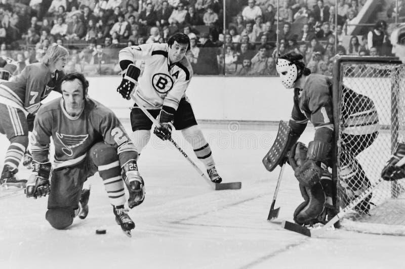 Phil Esposito Boston Bruins fotos de stock royalty free