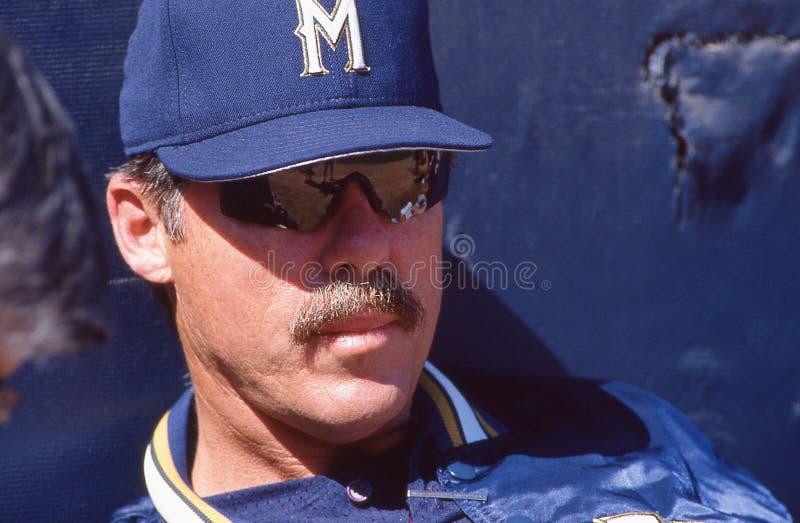 Phil Garner, Milwaukee Brewers lizenzfreies stockfoto