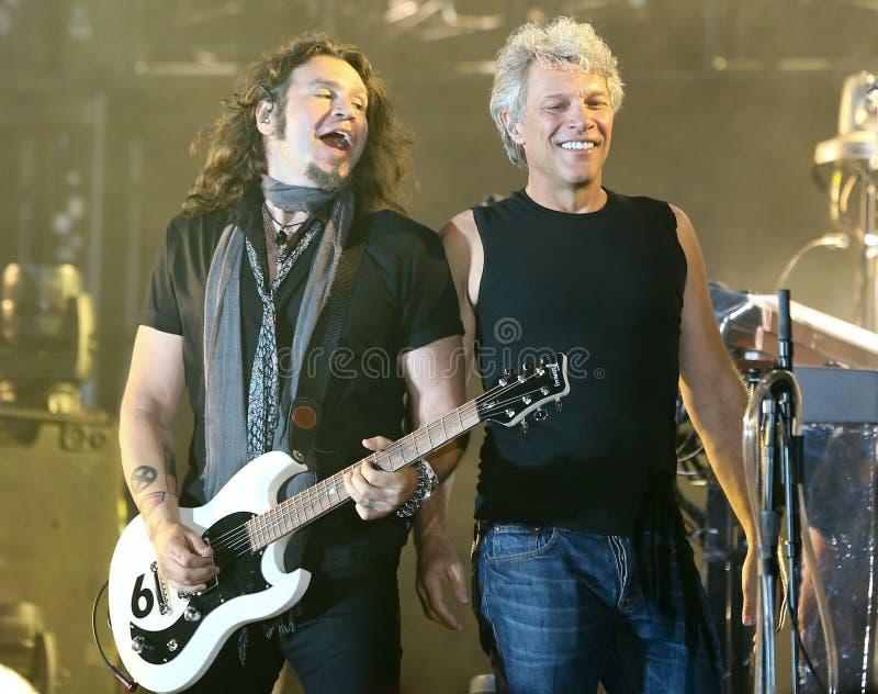 Phil X, Jon Bon Jovi fotografia stock