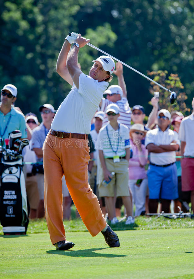 Phil Mickelson at the 2011 US Open stock photography