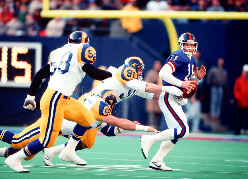 Phil Simms New York Giants stock images