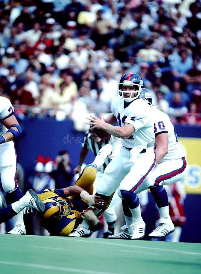 Phil Simms NY Giants foto de archivo