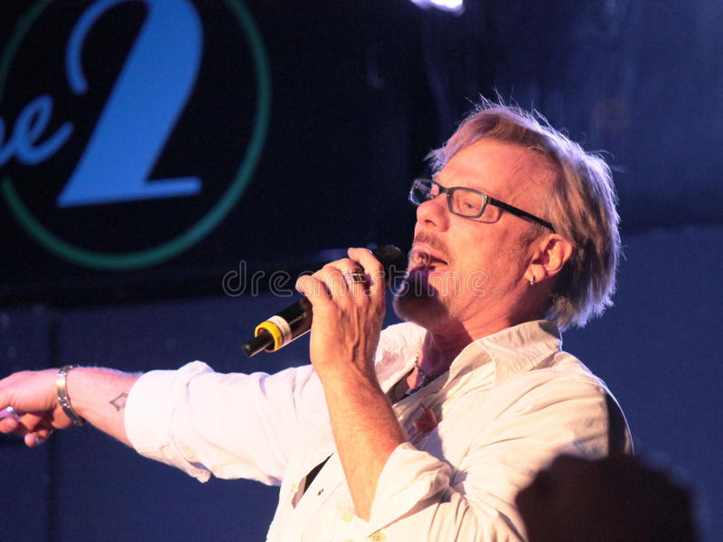 Phil Vassar, Lynchburg, Virginia.  Miller Home Benefit Concert an Phase 2, im April 2013 stockbilder