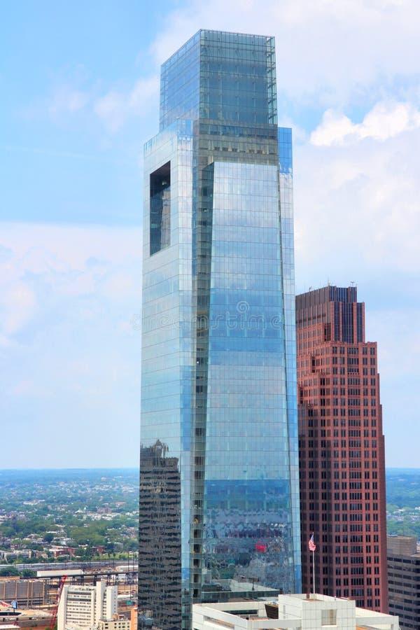 Philadelphfia - Comcast centra-se foto de stock