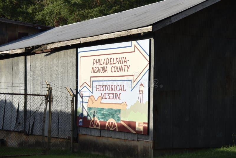 Philadelphfia, museu histórico de Neshoba, Philadelphfia, Mississippi imagem de stock royalty free