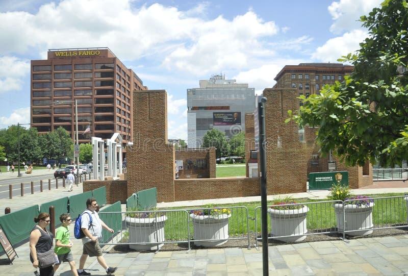 Philadelphfia, o 4 de agosto: Parque nacional da independência de Philadelphfia em Pensilvânia fotos de stock