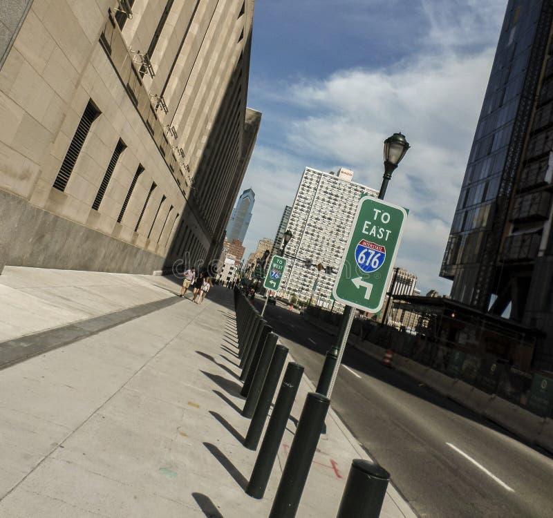 Philadelphfia ocidental carregada e aumentada foto de stock