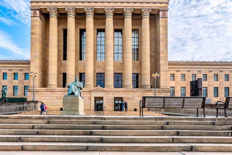 Philadelphfia, Pensilvânia, EUA - em dezembro de 2018 - presidente do supremo tribunal do Estados Unidos John Marshall, por Willi imagem de stock
