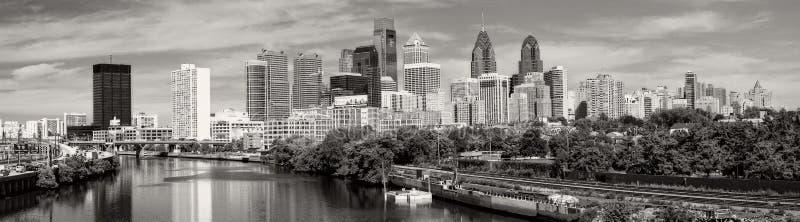 Philadelphia in black and white. Panorama of Philadelphia city skyline in Philadelphia in black and white. PA royalty free stock photo