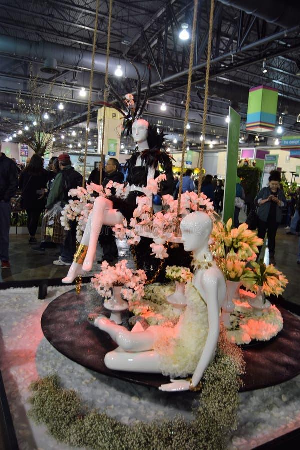 Philadelphia blomsterutställning 2017 royaltyfria bilder