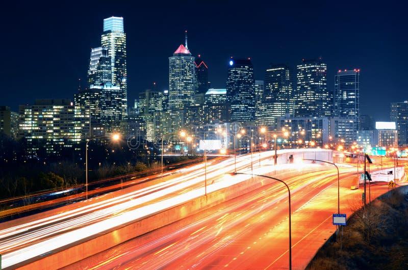 Download Philadelphia Center City stock photo. Image of road, lights - 25935258