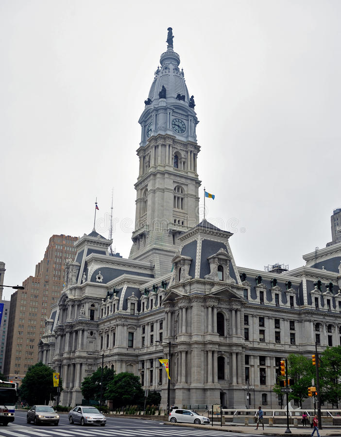 Download Philadelphia City Hall editorial photography. Image of overcast - 19876017