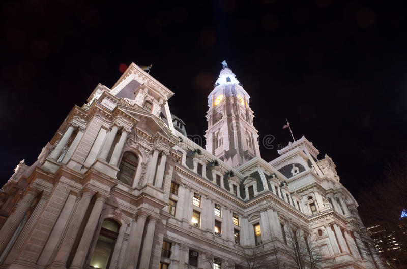 Philadelphia city hall stock image