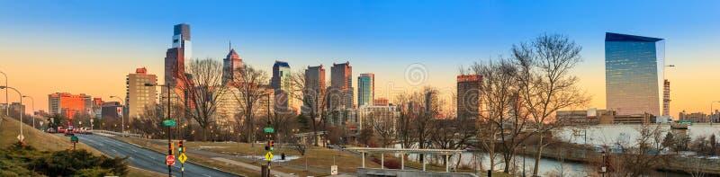 Philadelphia city skyline royalty free stock images