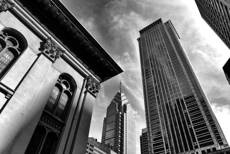 Philadelphia cityscape Centrum av Philadelphia, PA, USA royaltyfria bilder