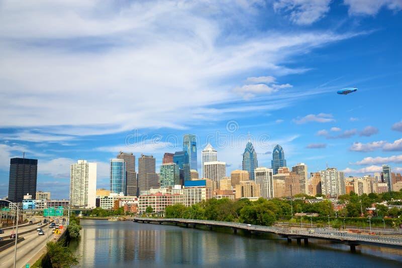 Philadelphia de stad in stock afbeeldingen