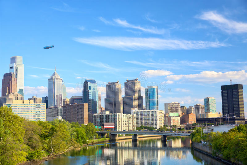 Philadelphia de stad in stock foto's