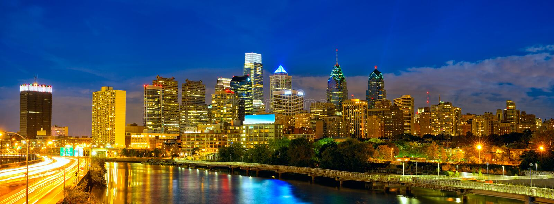 Philadelphia del centro fotografia stock