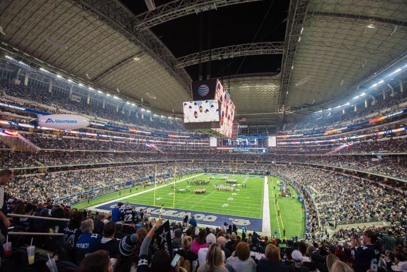 Philadelphia Eagles contro Dallas Cowboys allo stadio di AT&T fotografie stock libere da diritti