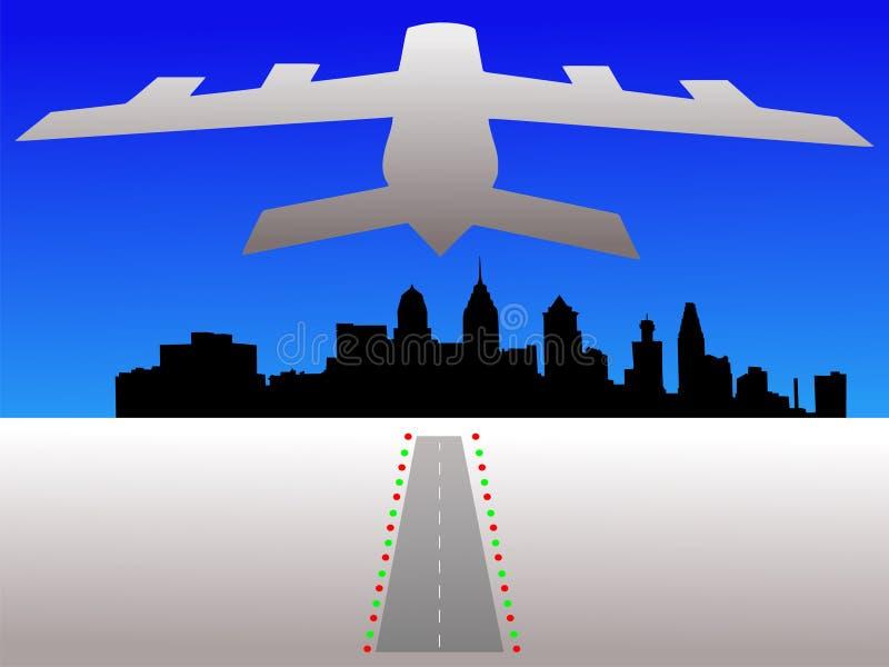 Philadelphia en vliegtuig vector illustratie
