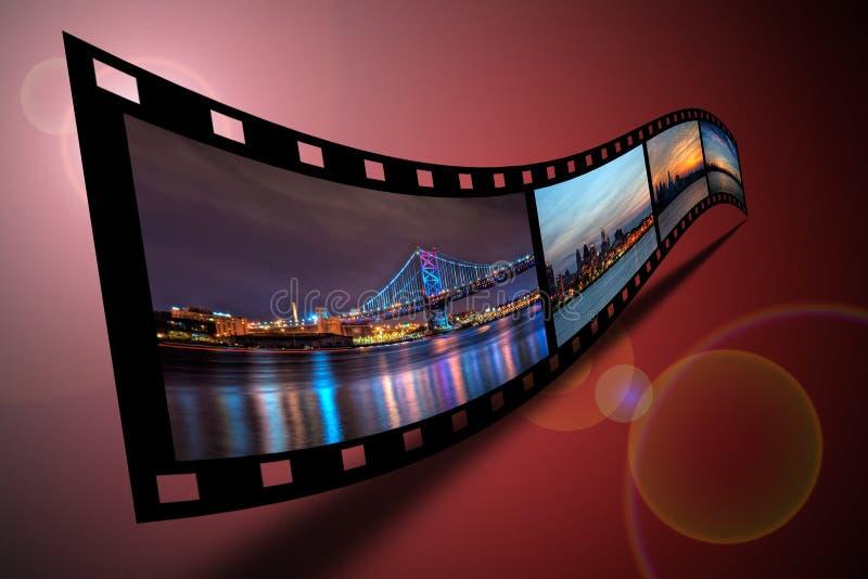 Philadelphia Filmstrip foto de archivo libre de regalías
