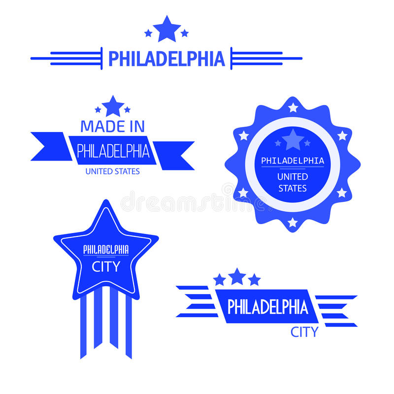 Philadelphia firma vector ilustración del vector