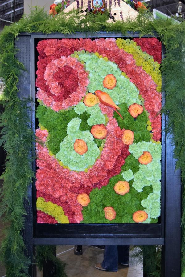 Philadelphia Flower Show 2017. The Philadelphia Flower Show March 11th 2017 Opening Day. The theme is Holland. A replication of a painting done in flowers stock images