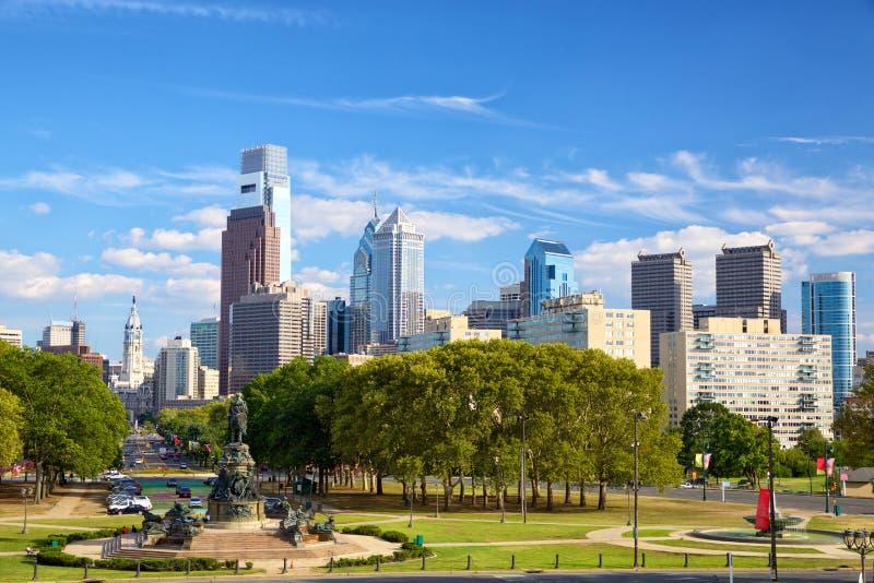 Philadelphia im Stadtzentrum gelegen stockfoto