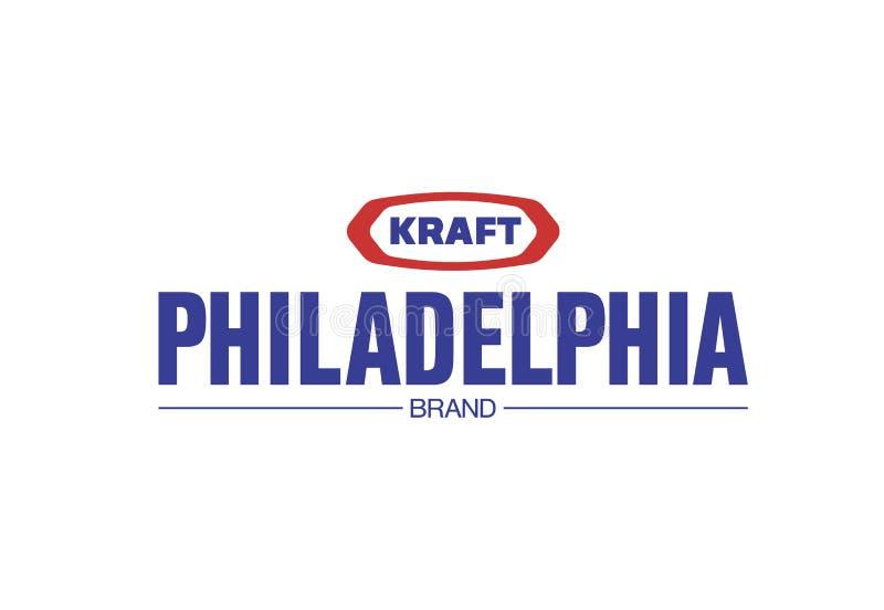 Philadelphia kraft logo stock illustrationer