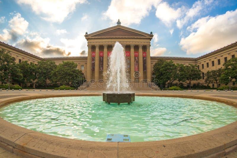 Philadelphia-Kunstmuseum lizenzfreie stockbilder