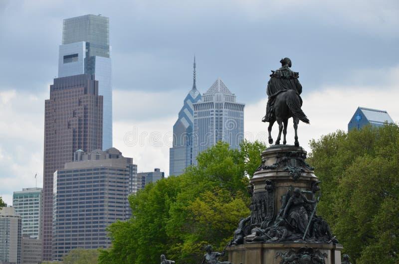 Philadelphia. Landmarks in Philadelphia. Photo taken near the Museum of art stock images