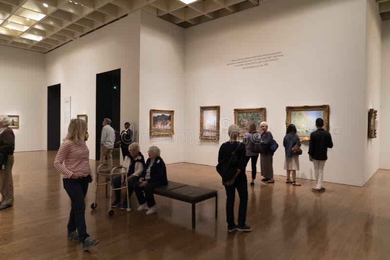 PHILADELPHIA, los E.E.U.U. - 30 DE ABRIL DE 2019 - el objeto expuesto impresionista del ojo en el museo de arte foto de archivo libre de regalías