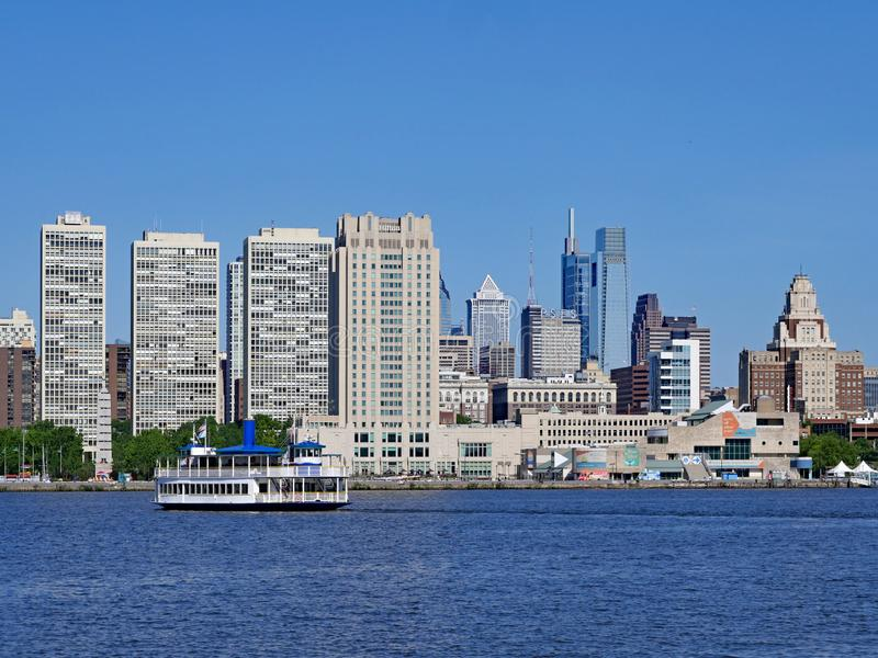 Philadelphia skyline from across the Delaware River, stock photos