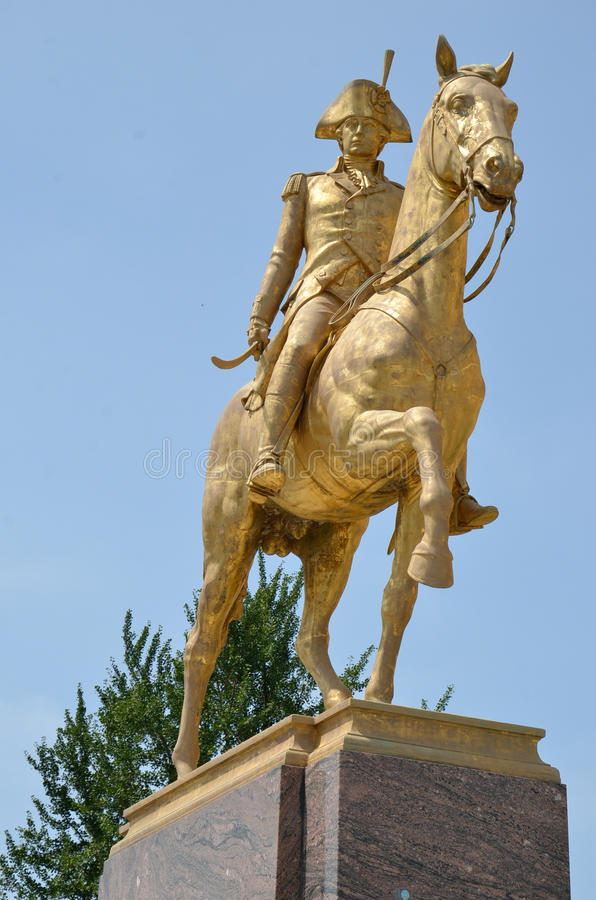 Philadelphia Museum of Art - Anthony Wayne. Anthony Wayne is a gilded bronze equestrian sculpture of Anthony Wayne, by John Gregory at the Philadelphia Museum of royalty free stock image