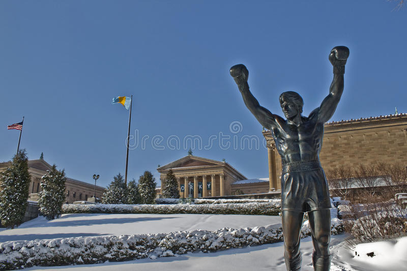 philadelphia muzealna zima fotografia stock