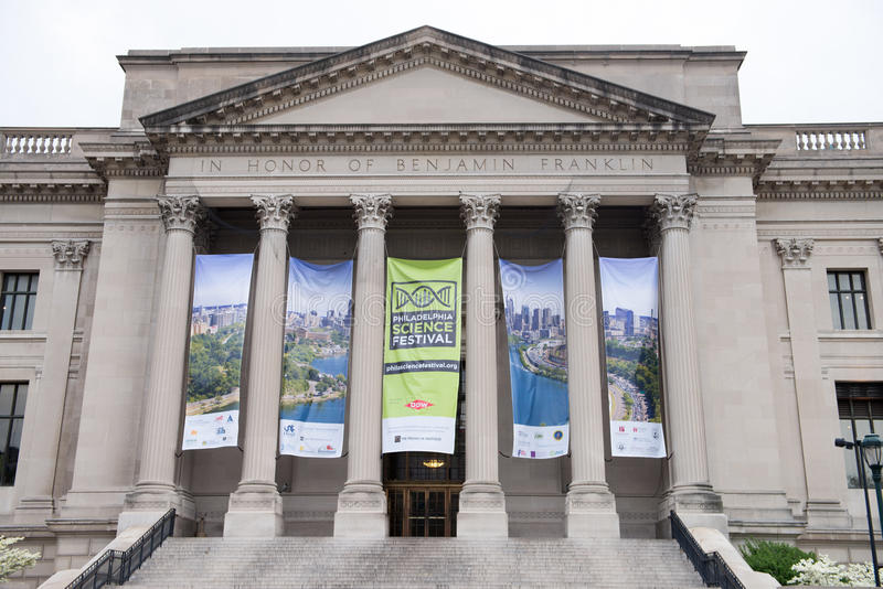 PHILADELPHIA, PA - APRIL 19: Exterior of Benjamin Franklin Institute, Philadelphia on April 19, 2013 royalty free stock photos