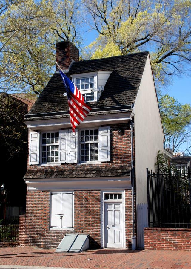 Philadelphia, PA: Casa de Betsy Ross imagenes de archivo