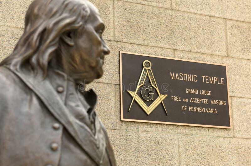 Philadelphia, PA, de V.S. - 29 Mei, 2018: Standbeeld van Benjamin Frankli royalty-vrije stock afbeelding
