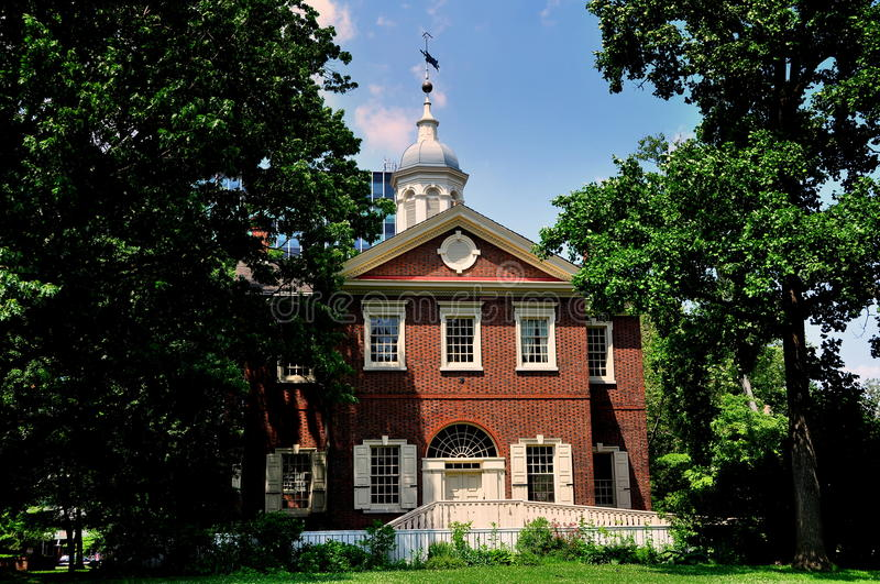Philadelphia, PA: Historic 1774 Carpenters' Hall stock photo