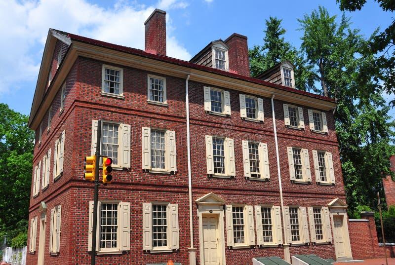 Philadelphia PA: Historiskt 18th århundrade Todd House arkivfoton