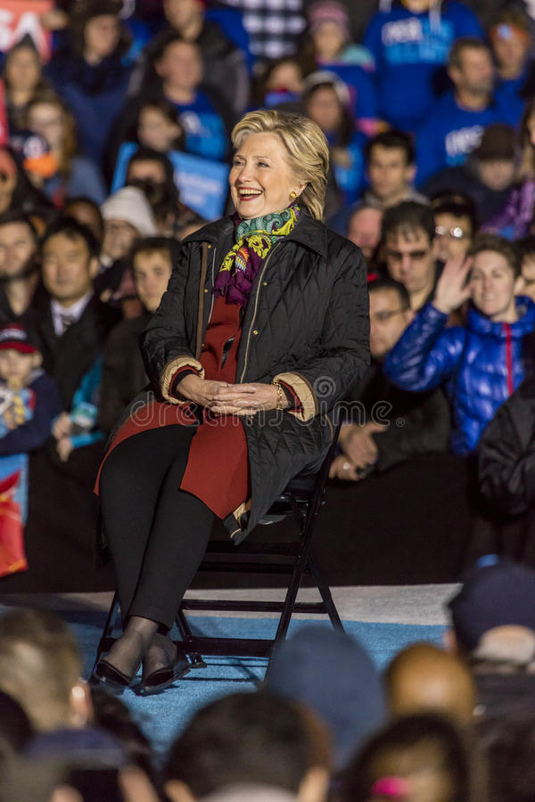 PHILADELPHIA, PA - OCTOBER 22, 2016: Hillary Clinton and Tim Kaine campaign for President and Vice-President of the United States. At University of Pennsylvania royalty free stock photography