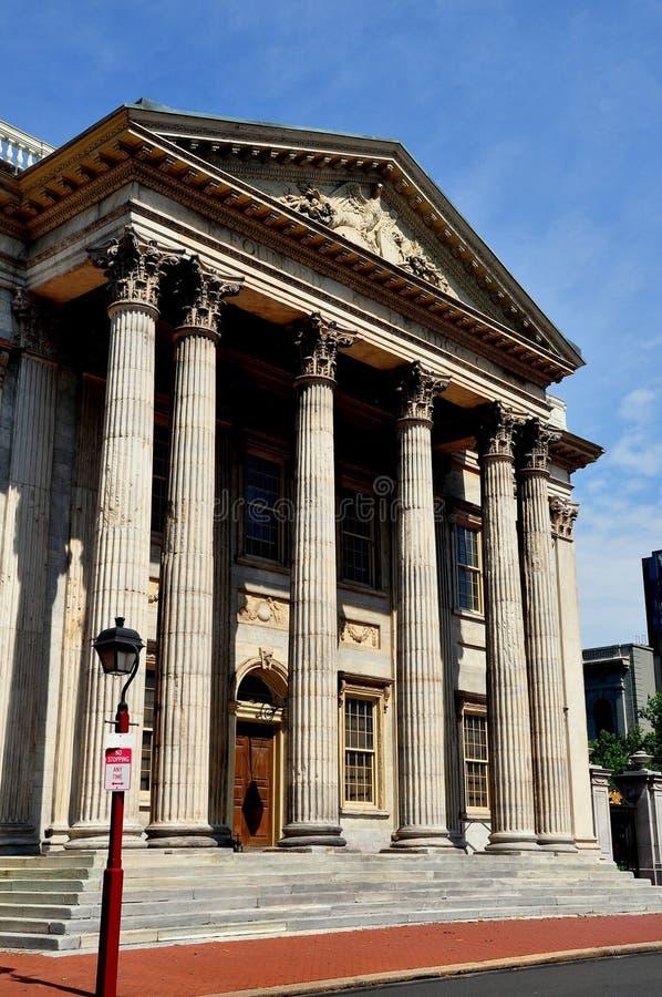 Philadelphia, PA: Primer banco de los Estados Unidos imágenes de archivo libres de regalías